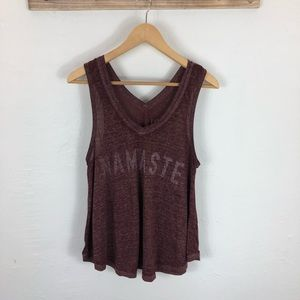 Namaste heathered burgundy swing tank